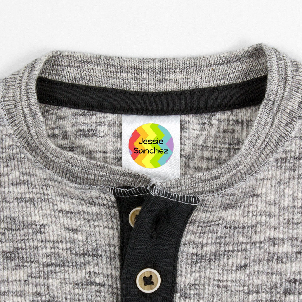 personalized clothing tags - Circle