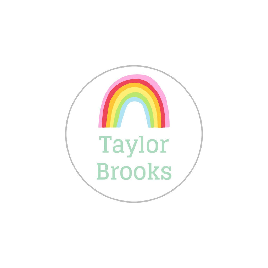 permanent rainbow kids labels