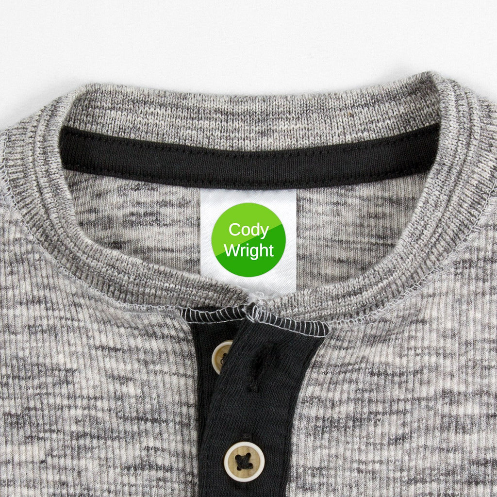 clothing labels for school - _Split_Green / Circle