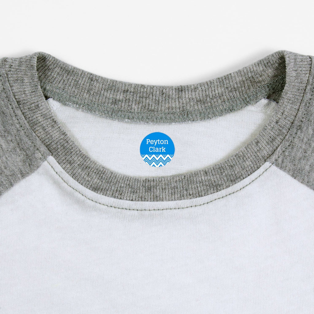 personalized clothing labels - Hawaiian Ocean / Circle