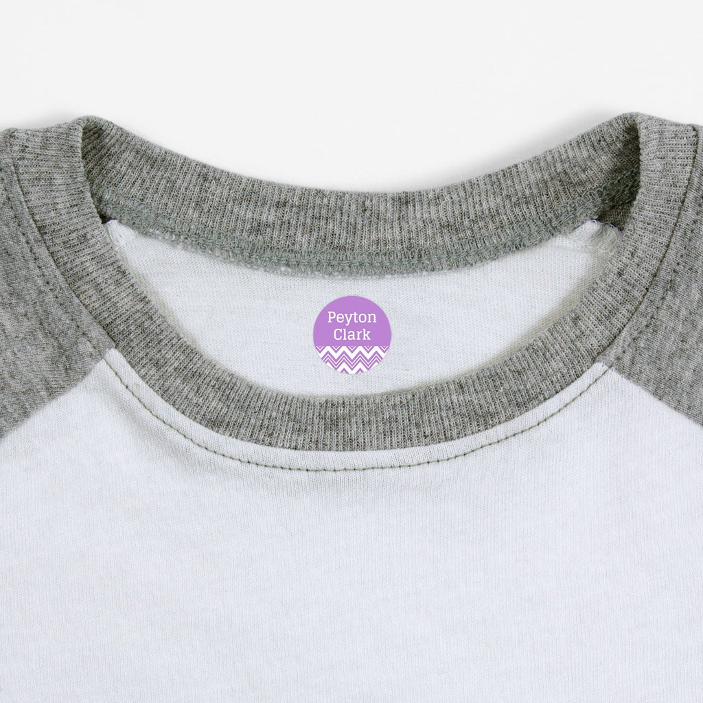 personalized clothing labels - Lavender / Circle