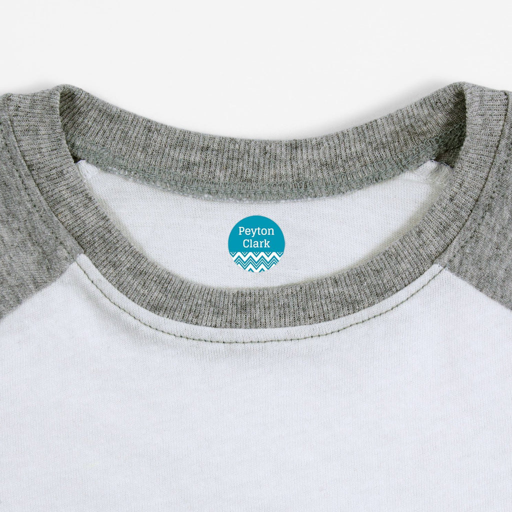personalized clothing labels - Turquoise / Circle