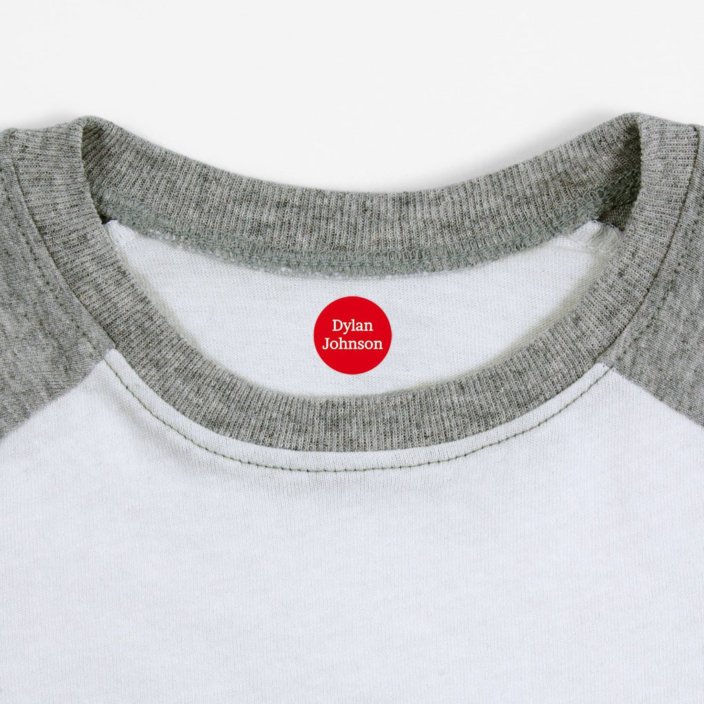 name labels for clothing - Candy Apple / Circle