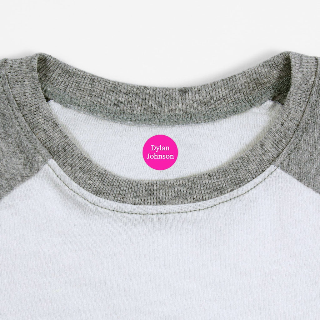name labels for clothing - Hot Pink / Circle