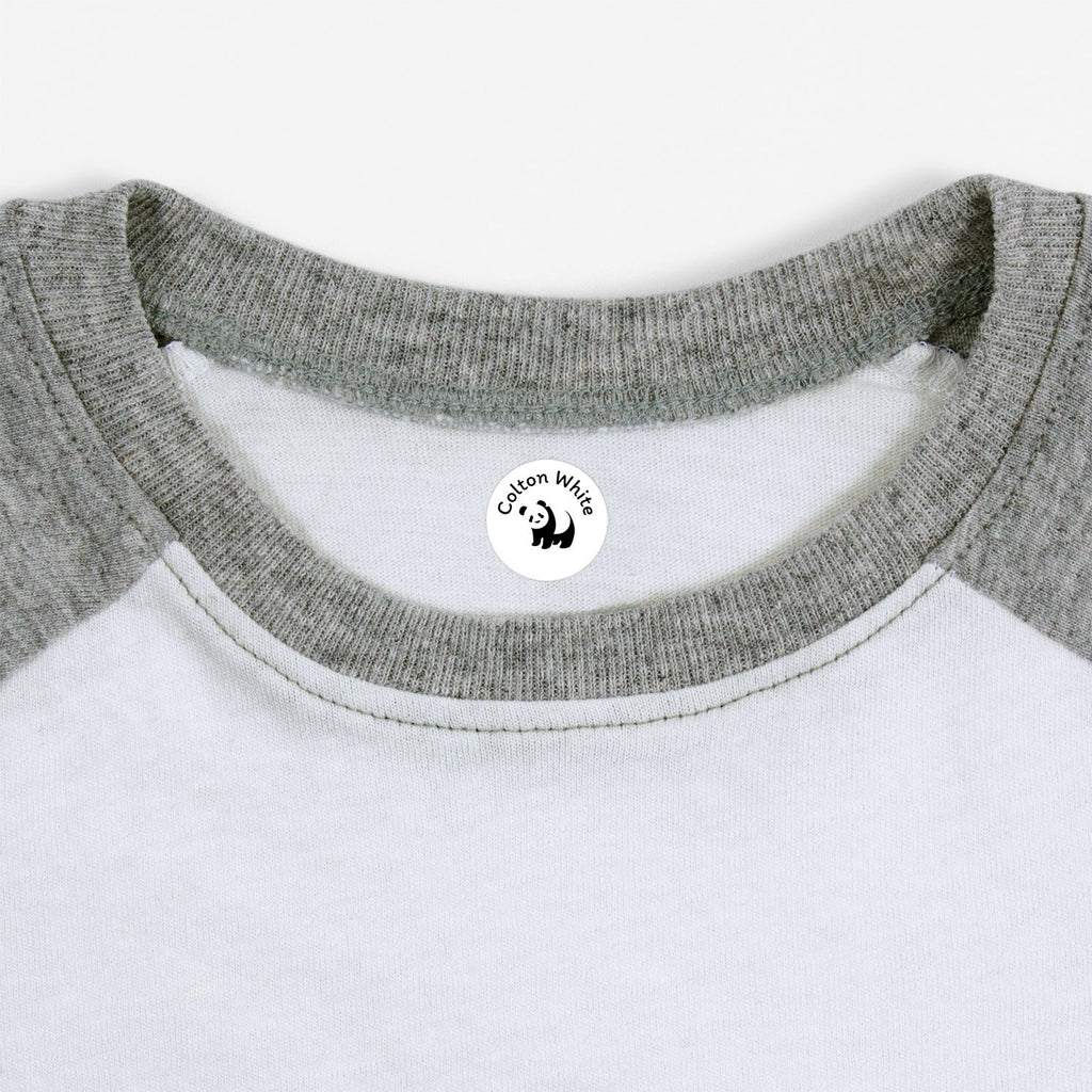 kids shirt with waterproof label of panda design - Circle