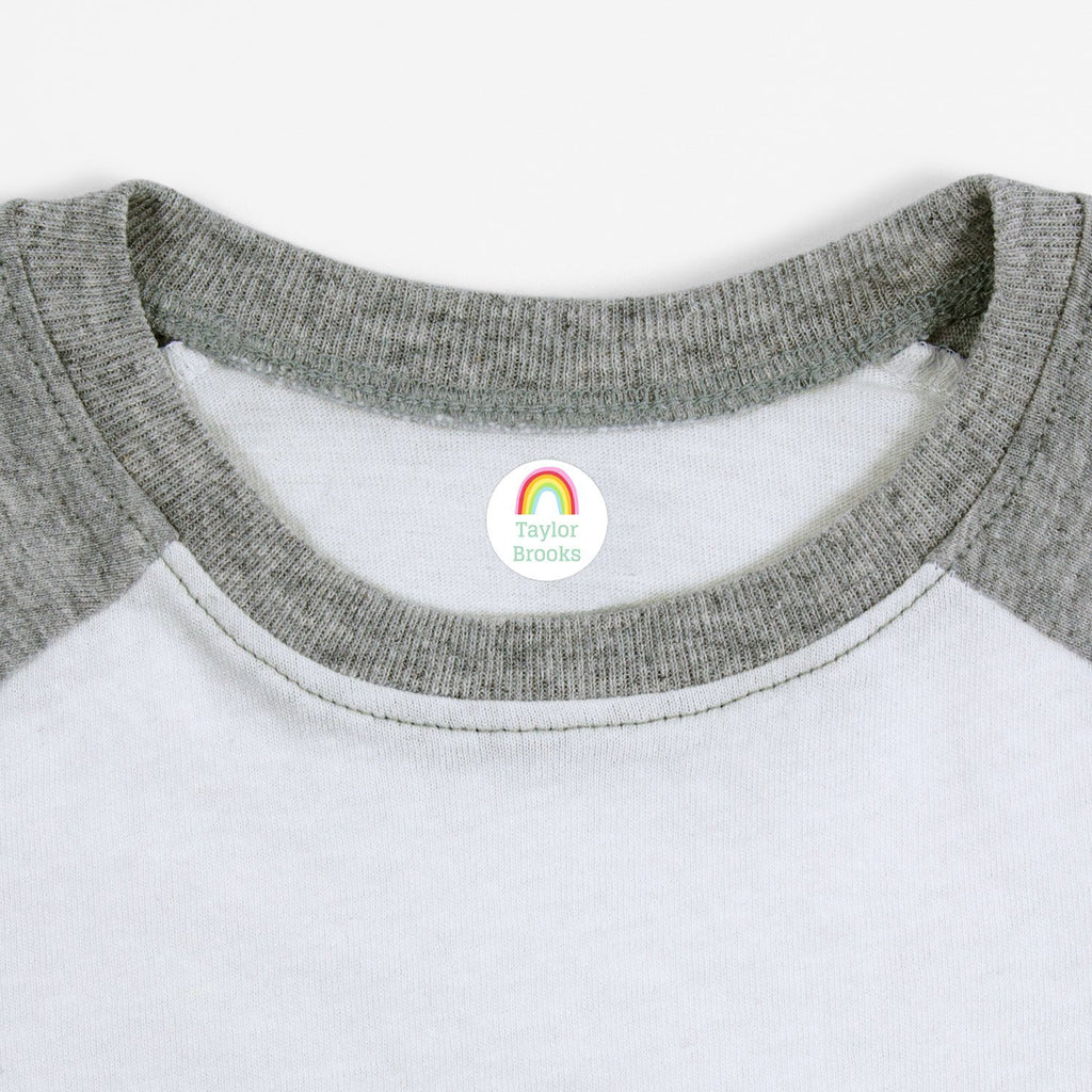 rainbow clothing labels - White / Circle