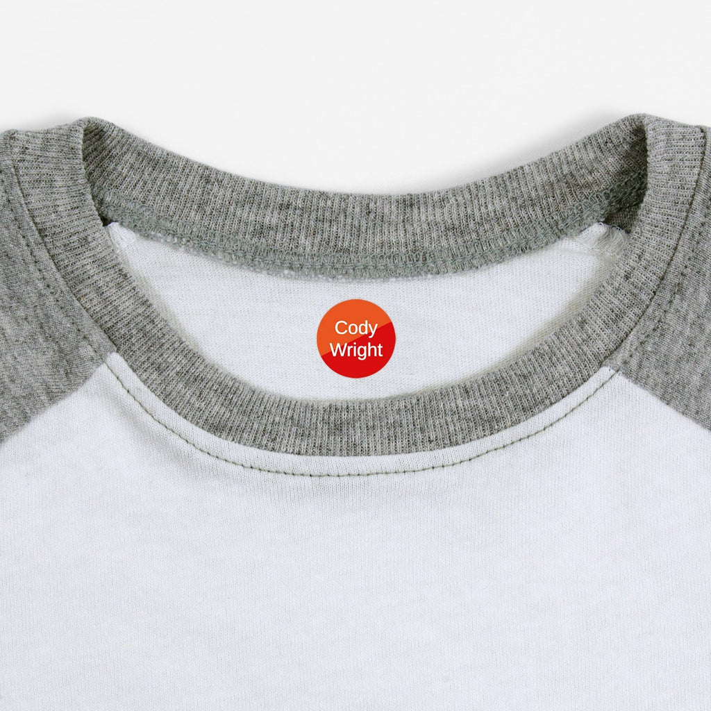 personalized kids iron-on labels - _Split_Red / Circle