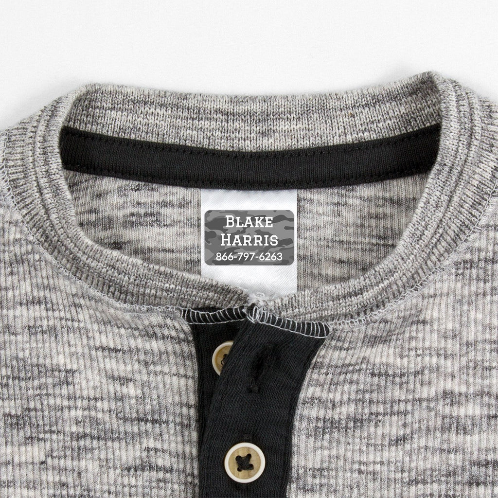 waterproof labels for clothing - _Camo_Gray