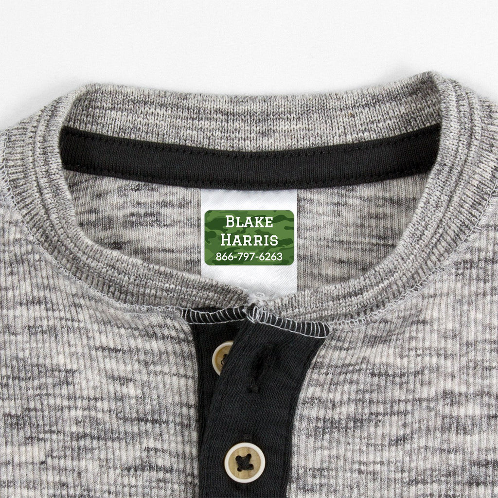 waterproof labels for clothing - _Camo_Green