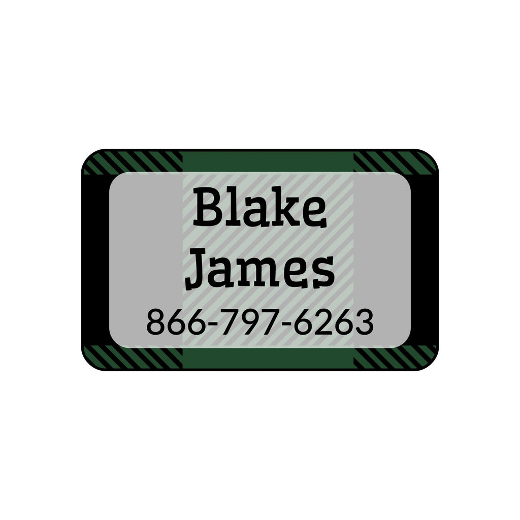 rectangle clothing stickers with plaid design