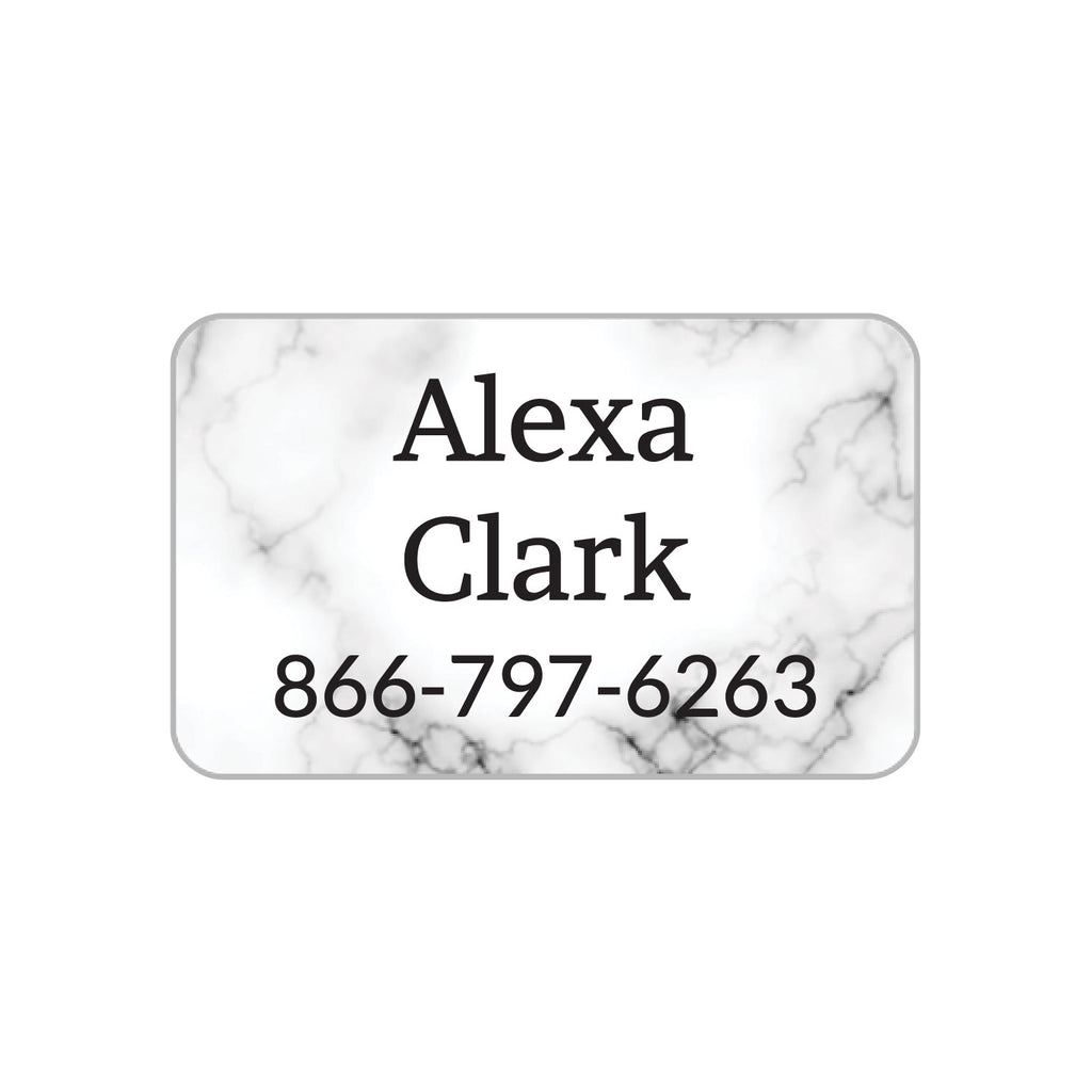 laundry safe clothing stickers with white marble background