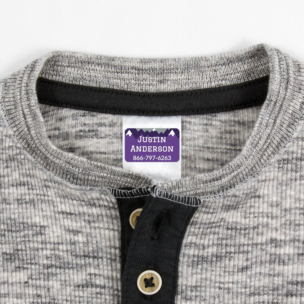 custom iron on clothing labels - _Mountain Top_Purple