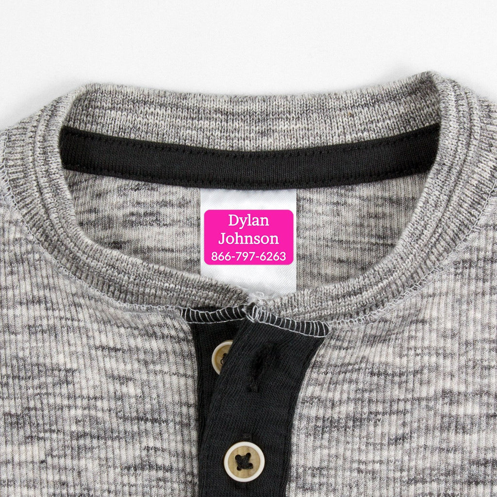 washable clothing labels - Hot Pink