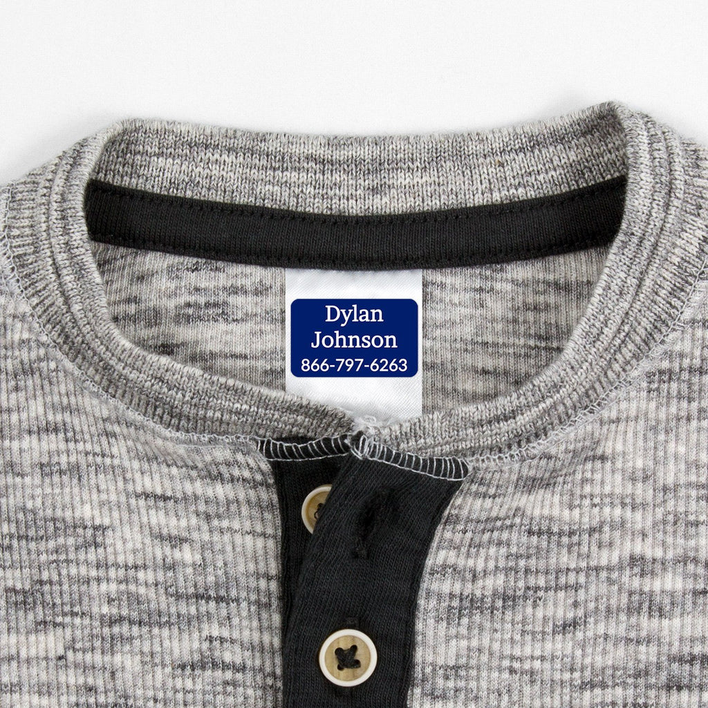 washable clothing labels - Indigo