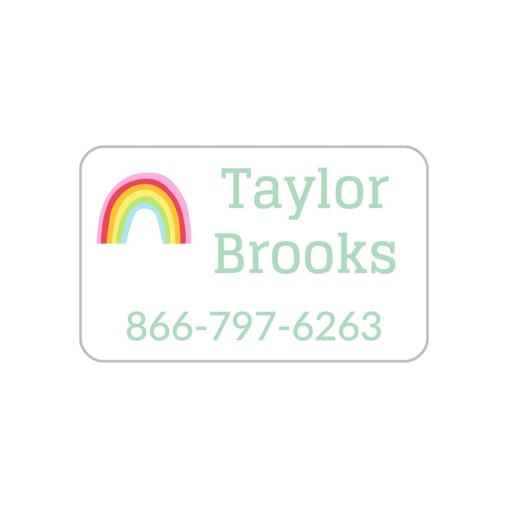 rainbow clothing name labels