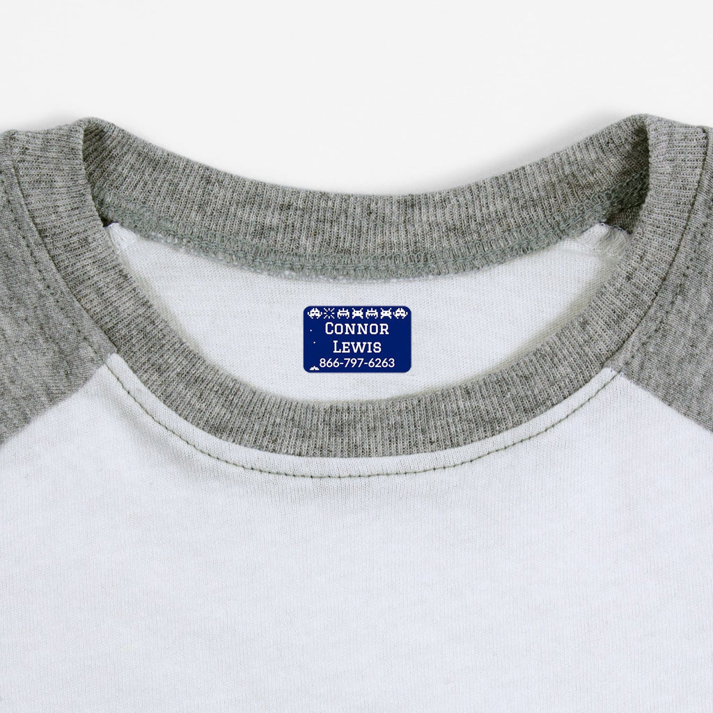 iron on name tags for children's clothes - Indigo / Rectangle