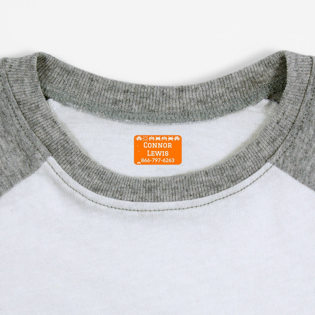 iron on name tags for children's clothes - Tangerine / Rectangle