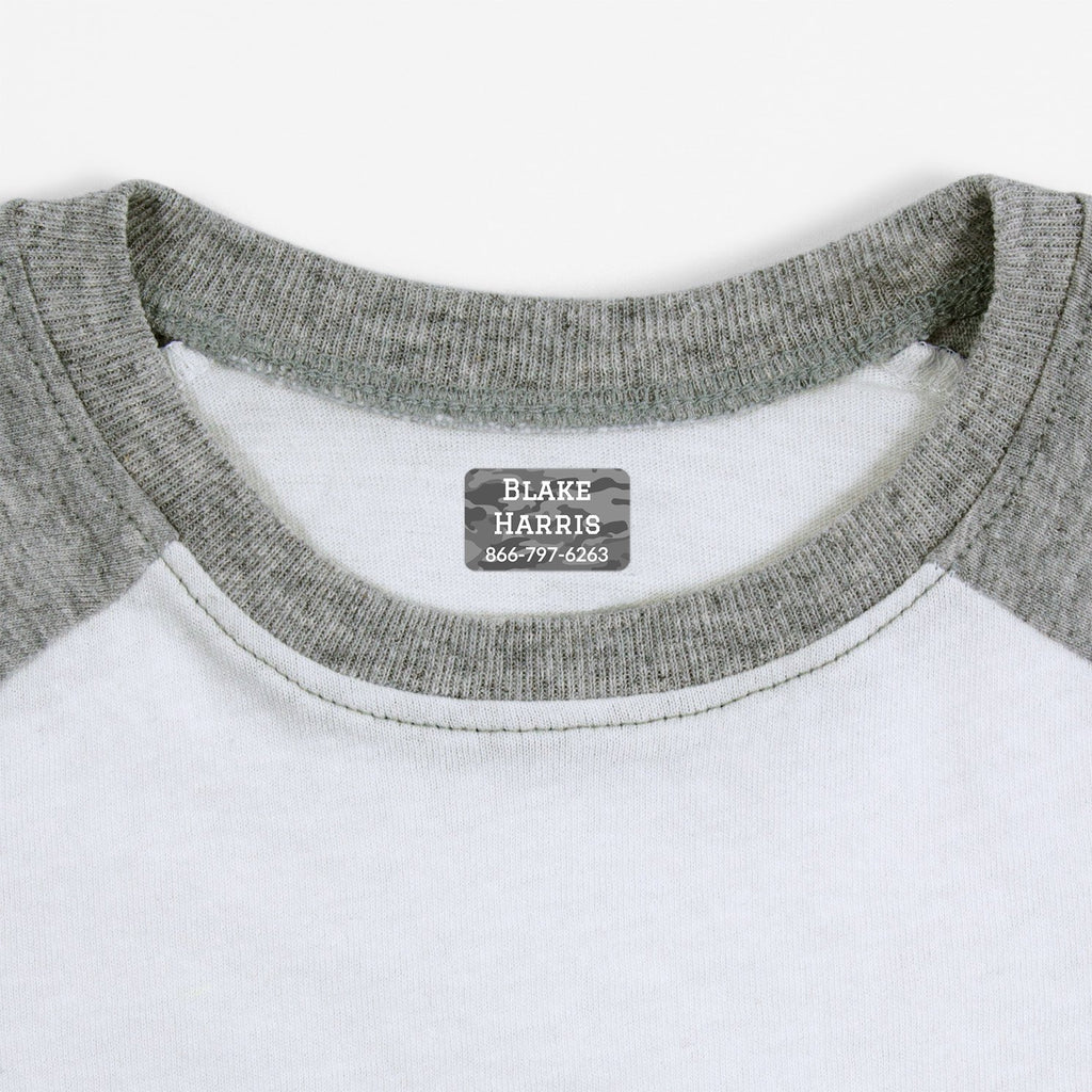 personalized labels for socks - _Camo_Gray / Rectangle