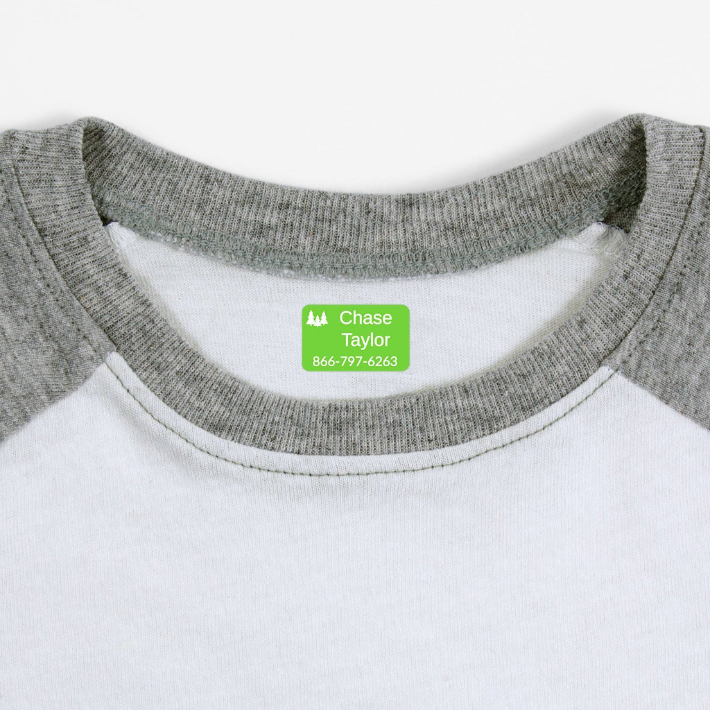iron on clothing labels for kids - Rectangle