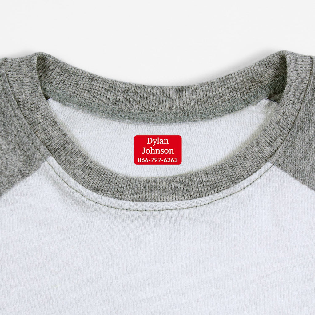 name labels for clothing - Candy Apple / Rectangle