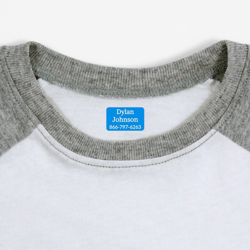 name labels for clothing - Hawaiian Ocean / Rectangle
