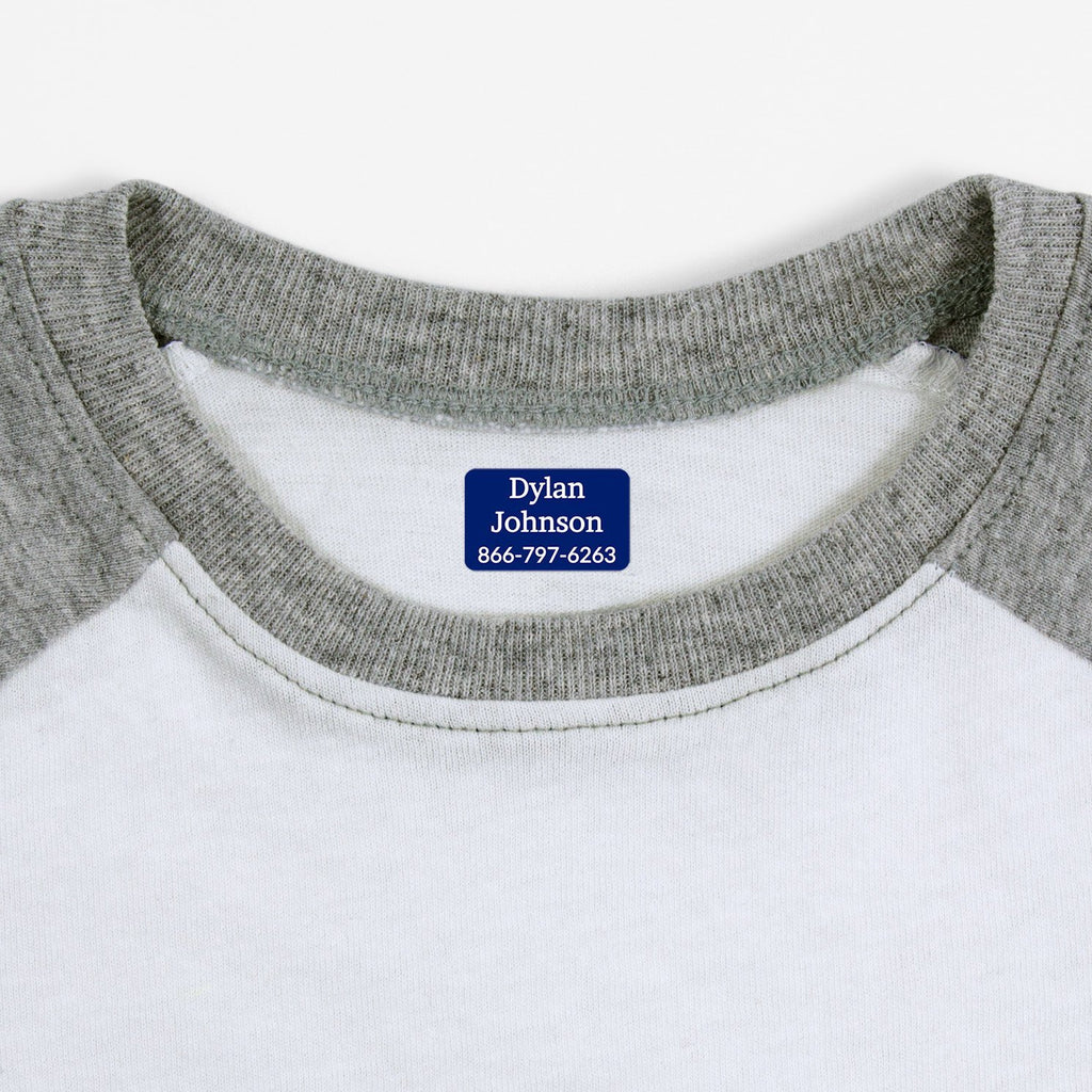 name labels for clothing - Indigo / Rectangle