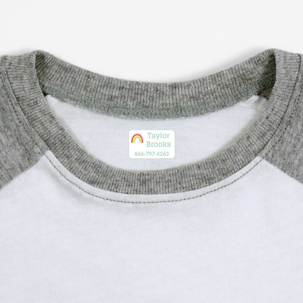rainbow clothing labels - White / Rectangle