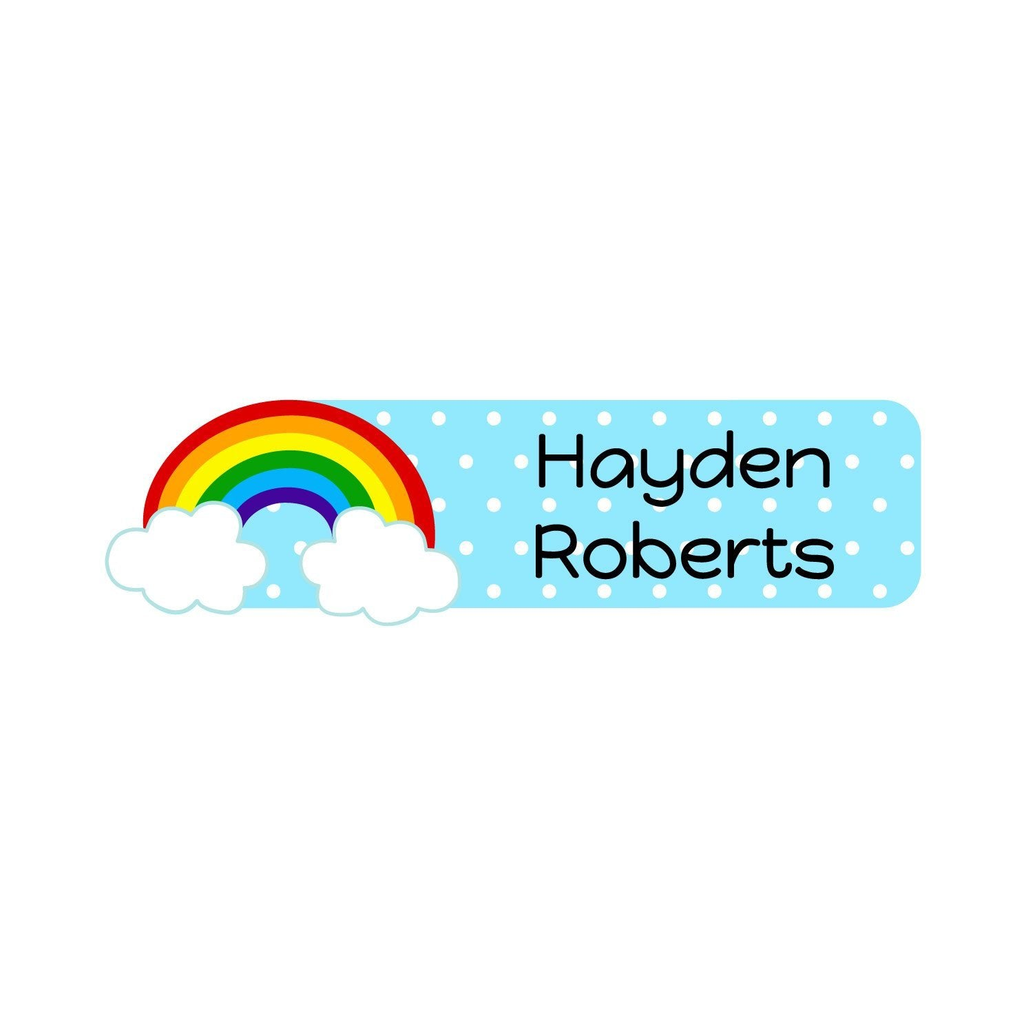 rainbow name stickers