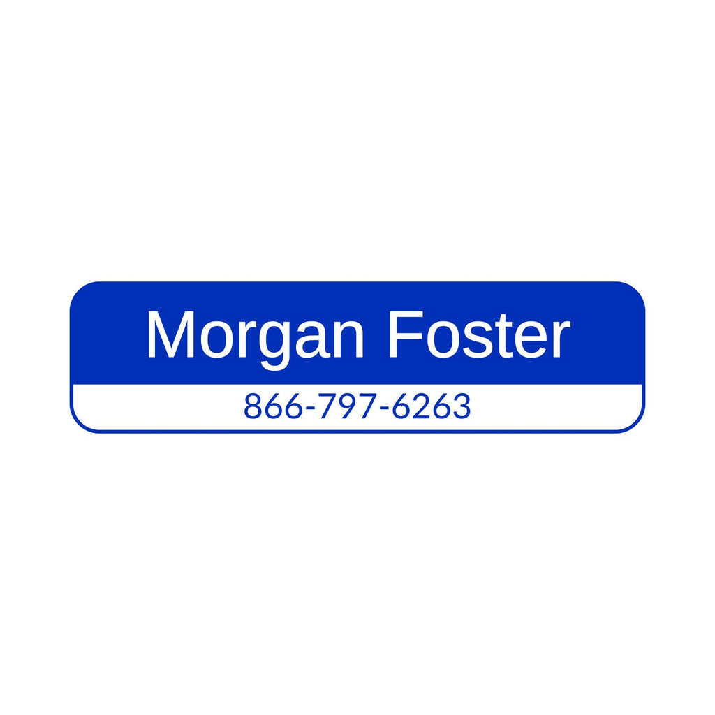 personalized contact information labels