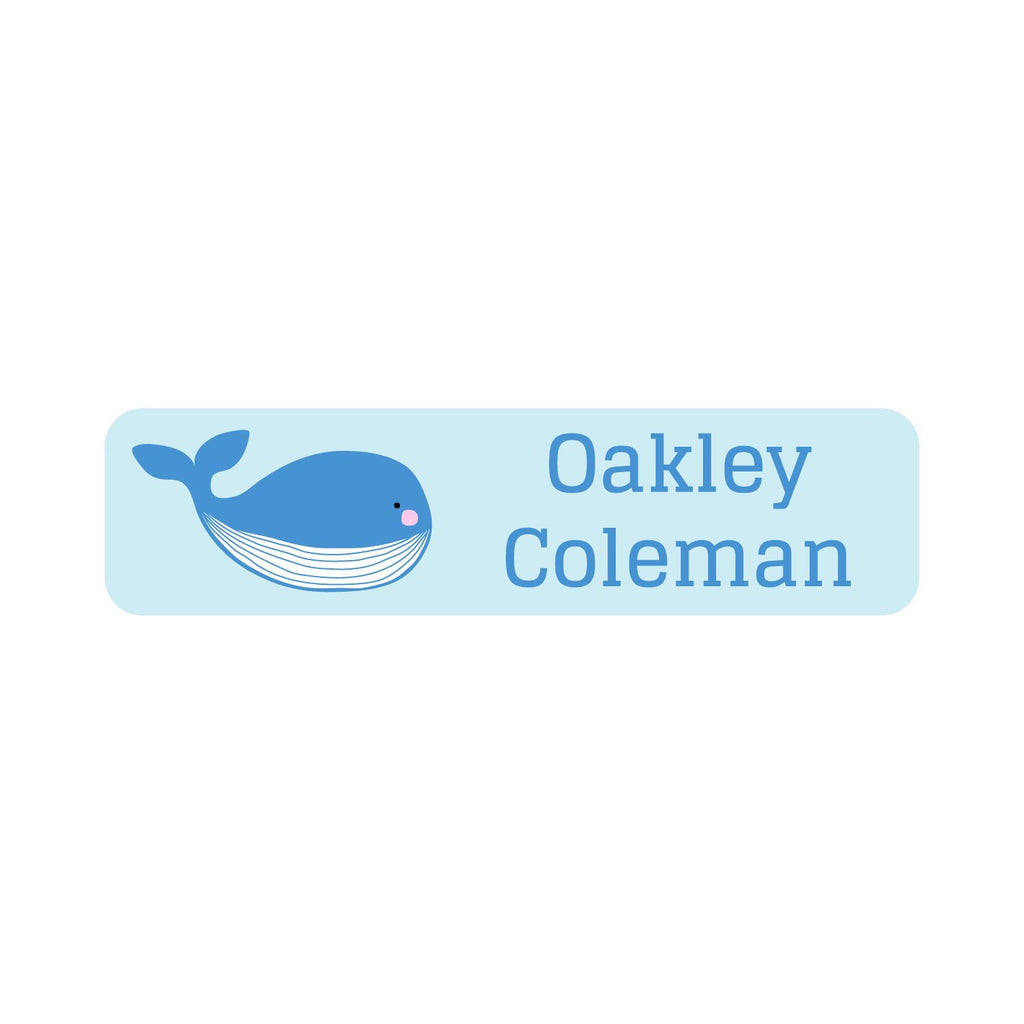 waterproof whale name labels