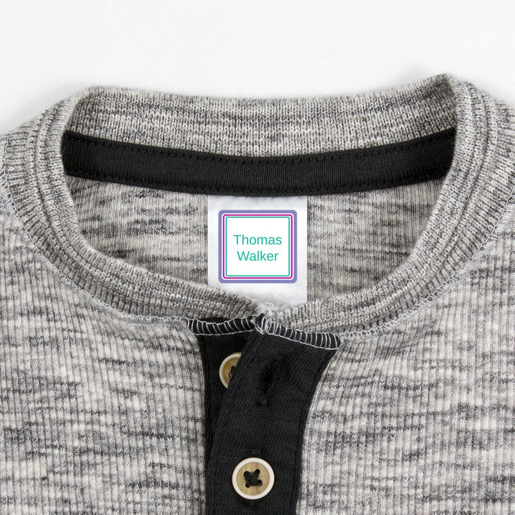 labels for kids clothes - Pacific Surf / Square