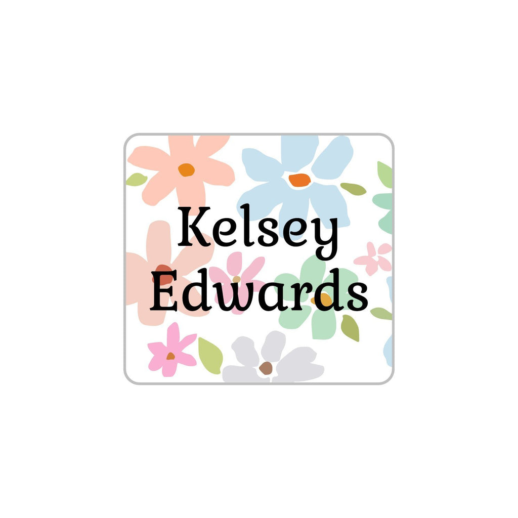 custom flower laundry labels