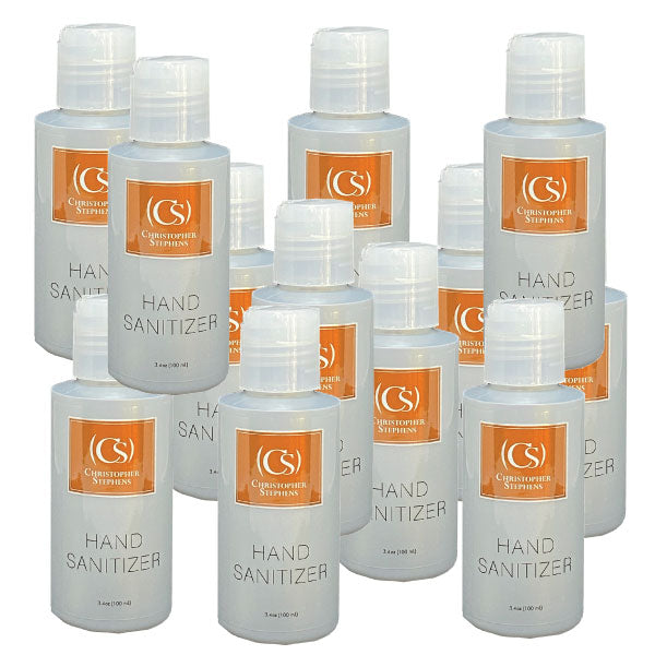 12 Pack Christopher Stephens Platinum Hand Sanitizer 3.4oz - Christopher Stephens Hair Salon West Palm Beach