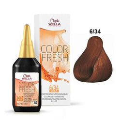 WELLA COLOR FRESH 6/34 DARK BLONDE / GOLD RED - Christopher Stephens Hair Salon West Palm Beach