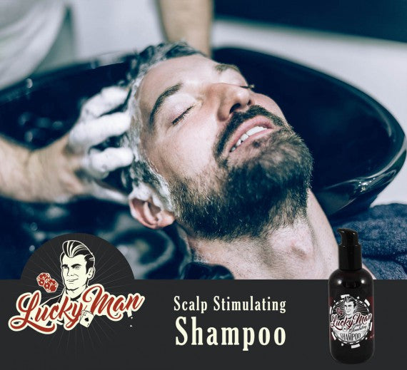 Lucky Man Scalp Stimulating Shampoo 8oz - Christopher Stephens Hair Salon West Palm Beach