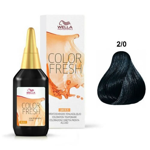 WELLA COLOR FRESH 2/0 DARKEST BROWN NATURAL - Christopher Stephens Hair Salon West Palm Beach