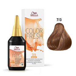 WELLA COLOR FRESH 7/3 MEDIUM BLONDE/GOLD - Christopher Stephens Hair Salon West Palm Beach