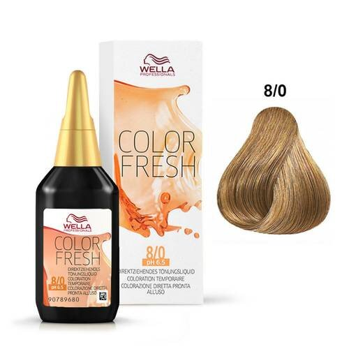 WELLA COLOR FRESH 8/0 DARK BLONDE / NATURAL - Christopher Stephens Hair Salon West Palm Beach