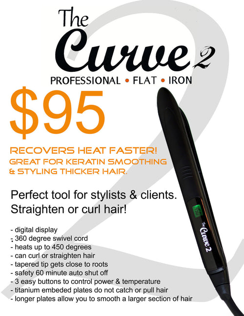 The Curve 2 Professional Flat Iron - Christopher Stephens Hair Salon West Palm Beach