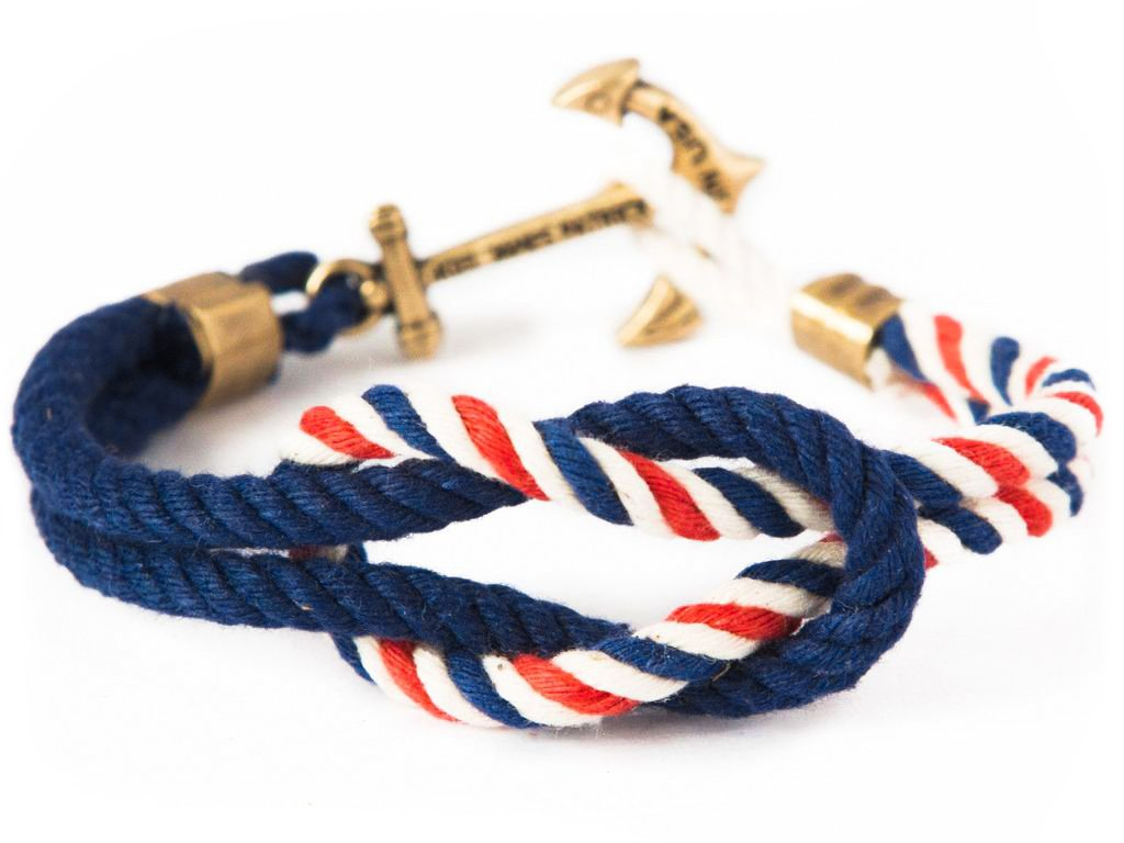 a038bb0287d American Coast - Kiel James Patrick Anchor Bracelet Made in the USA