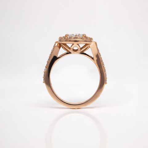 Custom rose gold engagement ring