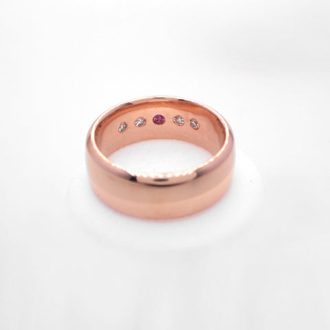 custom mens wedding band rose gold jewelry pdx portland judith arnell