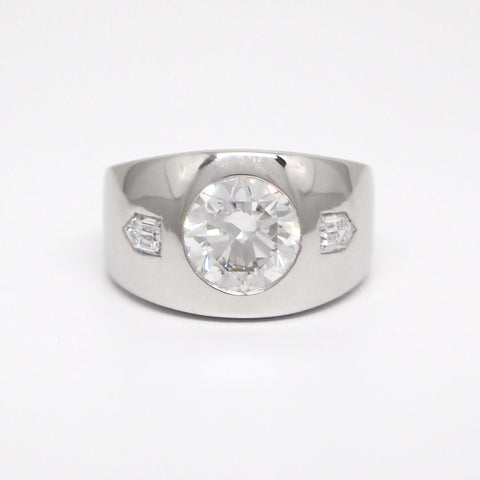 Custom mens diamond ring