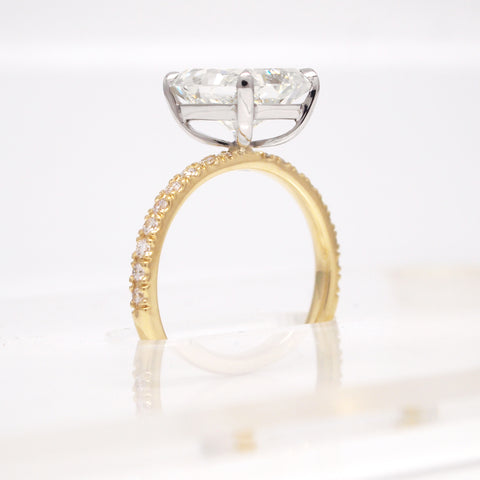 custom radiant diamond engagement ring