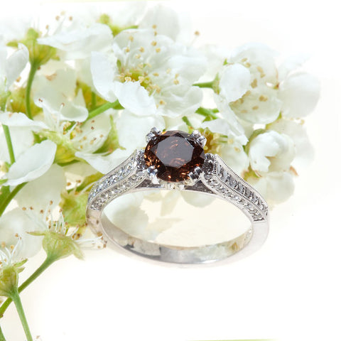 red diamond engagement ring