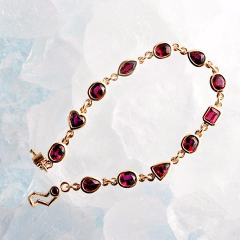 ruby bracelet yellow gold judith arnell jewelers portland