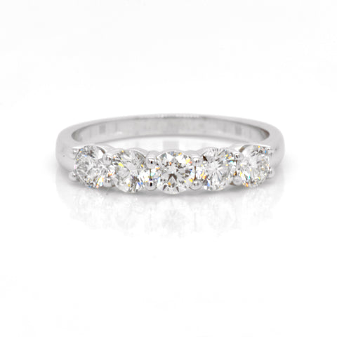 custom 5-stone diamond ring by judith arnell jewelers in portland pdx