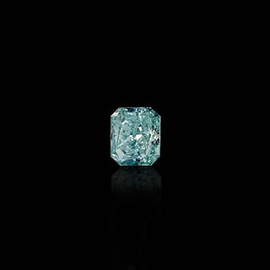 0.55 Carat Radiant Fancy Intense Blue-Green Diamond