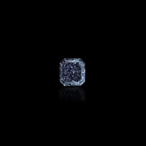 0.58 Carat Radiant Fancy Dark Grey-Violet Diamond
