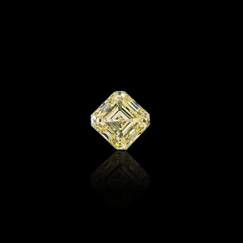1.10 Carat Square Emerald-Cut Fancy Light Yellow Diamond